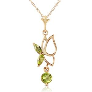 GOLD BUTTERFLY NECKLACE WITH PERIDOTS